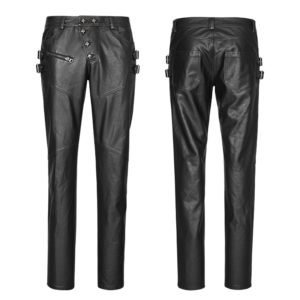 Leather Cyberpunk Pants