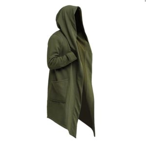 Hooded Cyberpunk Trenchcoat Green