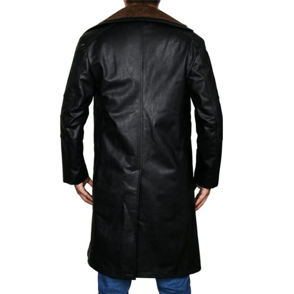 Cyber punk Leather Coat Back